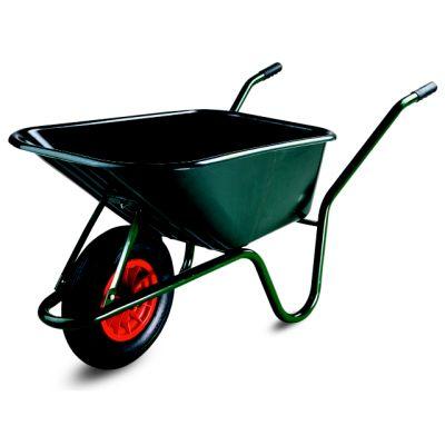 Kruiwagen Limex, 100L, groene PP bak, gelakt onderstel