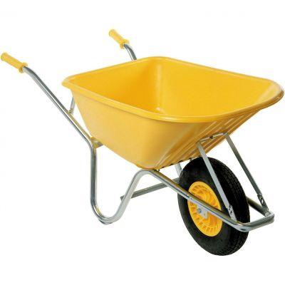 Kruiwagen 100L geel, elektrolytisch verzinkt