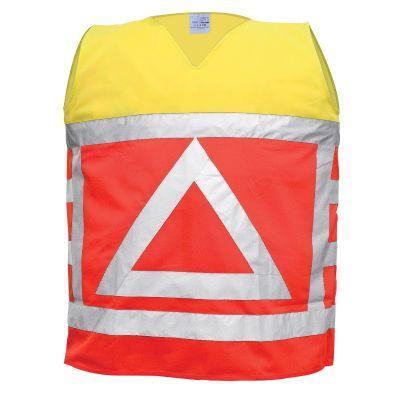 Signalisatievest Verkeersregelaar oranje/geel EN471