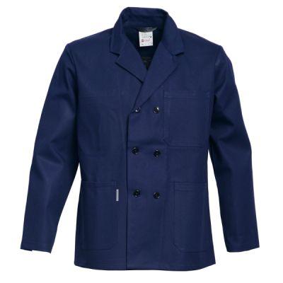 Havep korte jas / vest 3014 marine katoen
