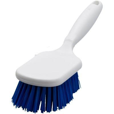 Hygiene handborstel korte steel 25cm blauw